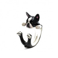 ANELLO-HUG-DOG-FEVER-BOSTON-TERRIER-SMALTATO